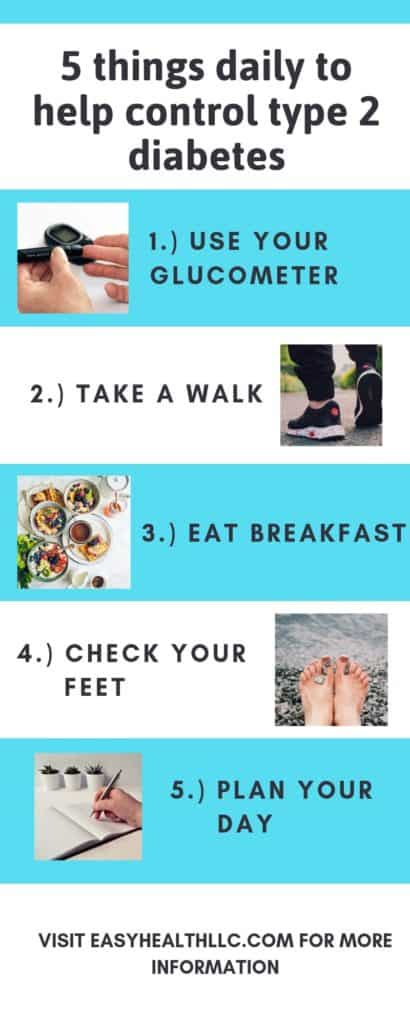infographic 5 ways to control diabetes