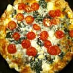Low carb ricotta spinach pizza