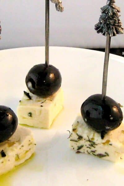 Greek Feta and Olive Appetizer