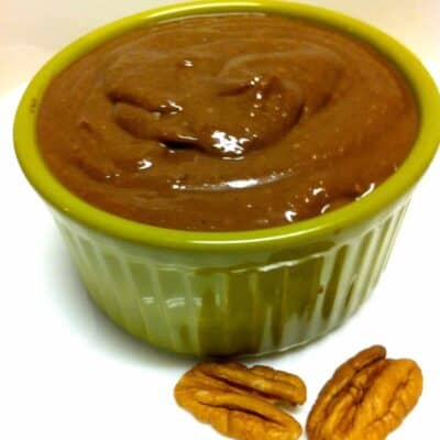Pecan Butter with Flaxseed and Dark Chocolate
