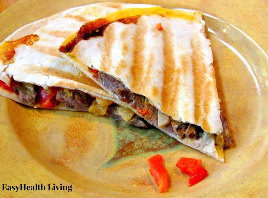 Veggie and Beef Quesadillas
