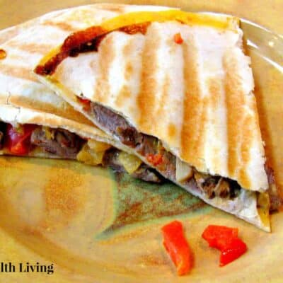 Veggie and Beef Quesadillas