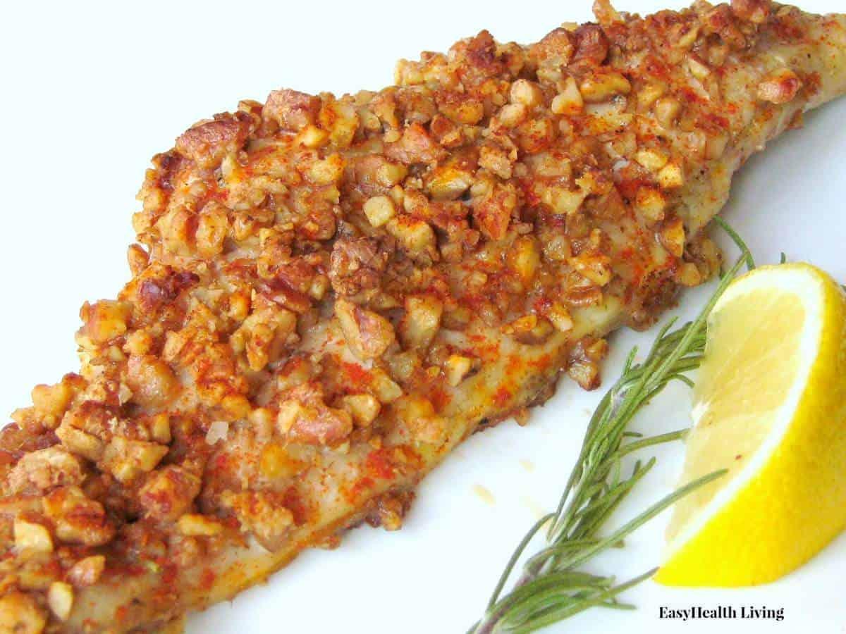 Low Carb Pecan Baked Catfish