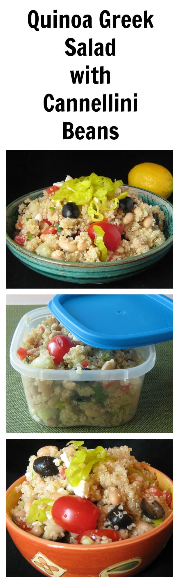 Quinoa Greek Salad with Cannellini Beans