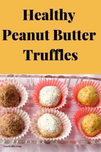 peanut butter truffles in cups