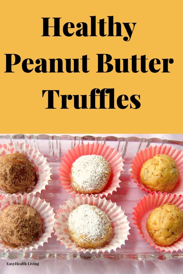 peanut butter truffles in cups