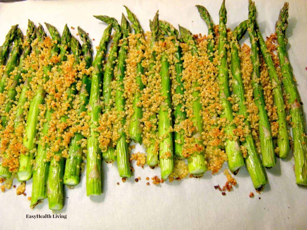 Toasted Quinoa with Asparagus