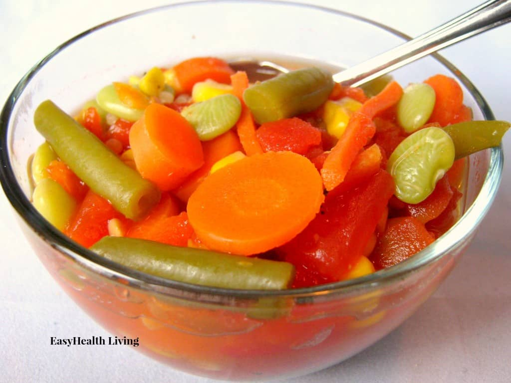 Veggie soup is a great snack for kids!