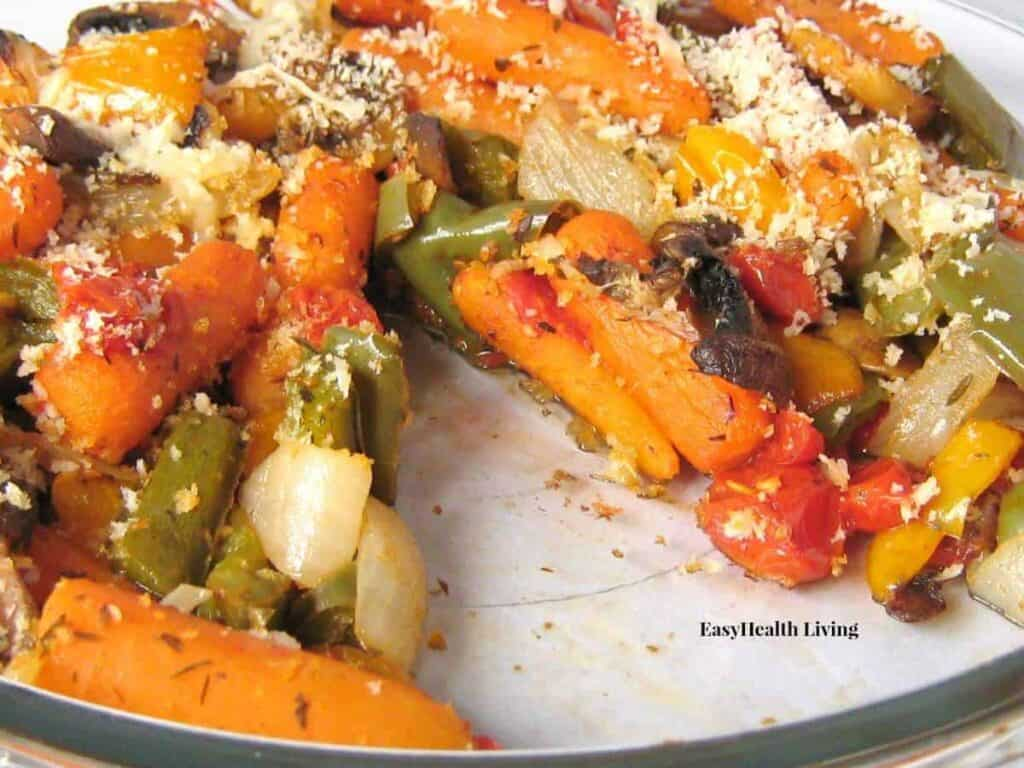 Herb and olive oil roasted vegetables