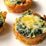 sweet potato spinach breakfast cups