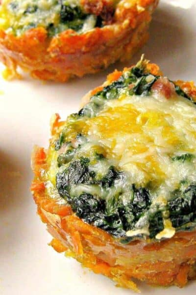 Sweet Potato Florentine Breakfast Cups