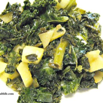 kale and apples