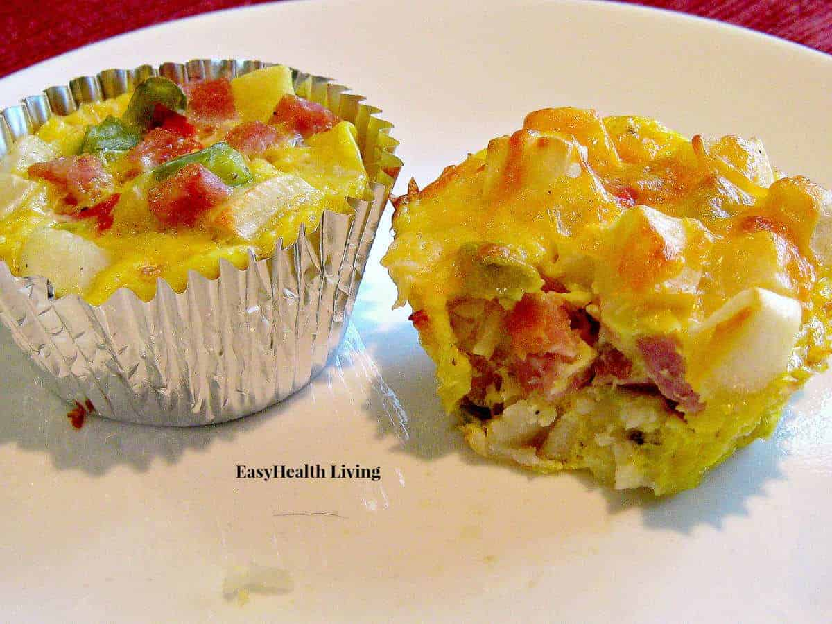 Southwestern omelet cups easyhealth living a quick breakfast of potatoes obrien eggs lean diced ham and cheese forumfinder Images