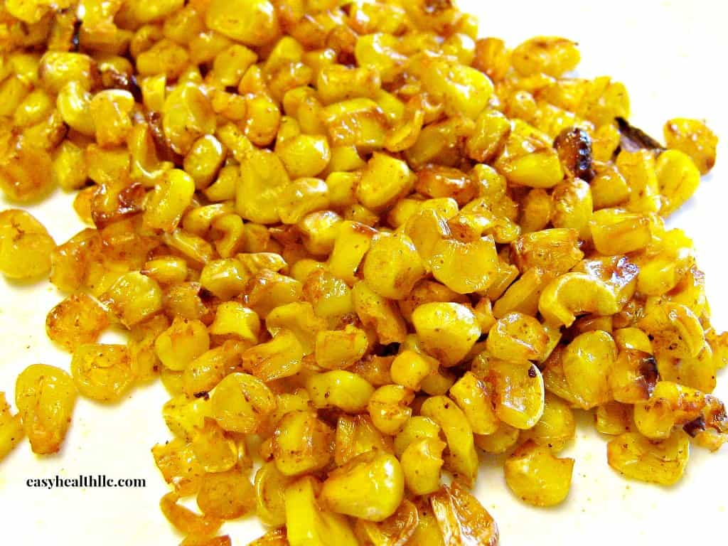 Frozen sweet corn seasoned with smoked paprika and roasted to a delicious crunch.