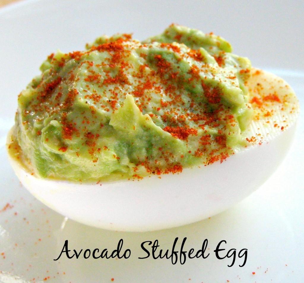 2 Ingredient Avocado Stuffed Egg #lowcarb