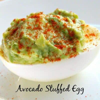 2 Ingredient Avocado Stuffed Egg close up