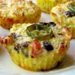 Cauliflower Breakfast Muffins close up