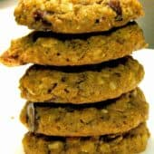 5 Grain Breakfast Power Cookies stack