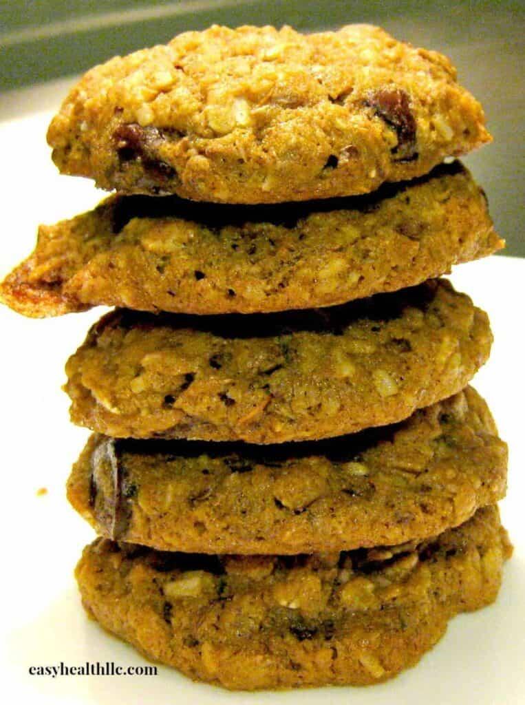 5 Grain Breakfast Power Cookies stack