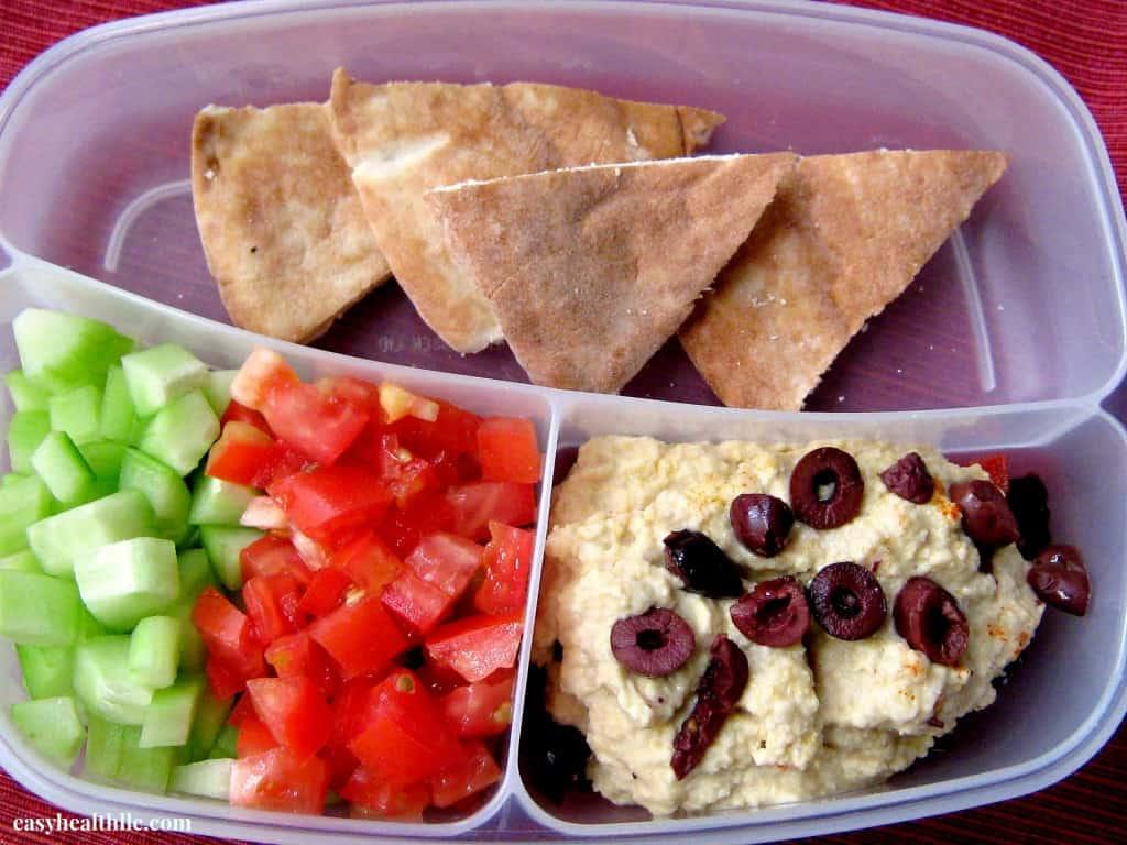 Hummus & Veggie Lunch To Go