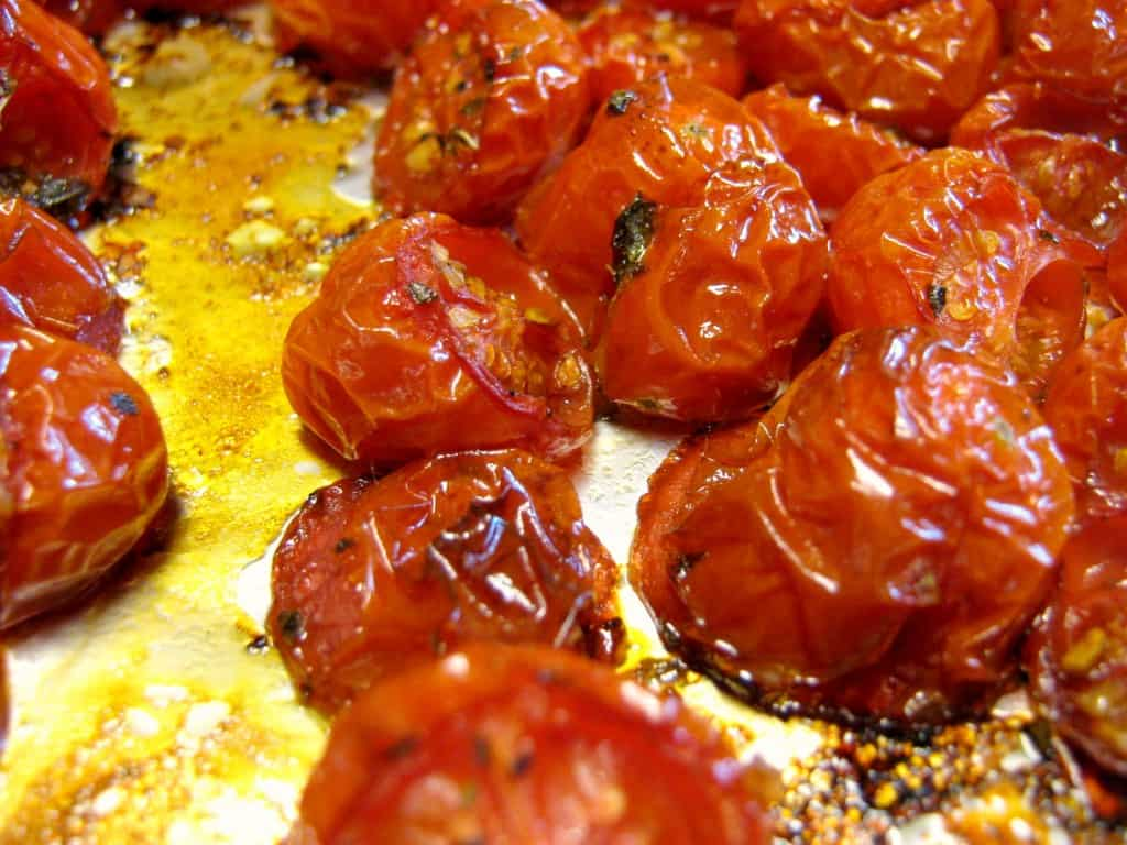 Balsamic and herb roasted tomatoes