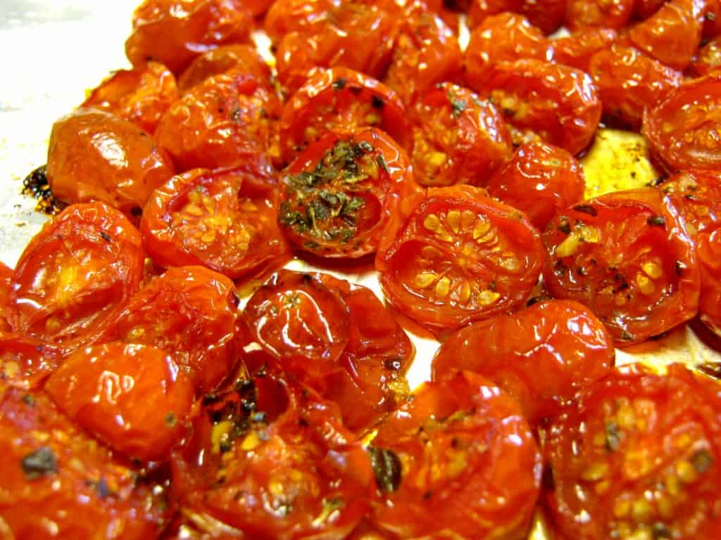 Balsamic and herb roasted cherry tomatoes