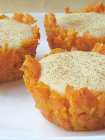 sweet potato cheesecake cup close up