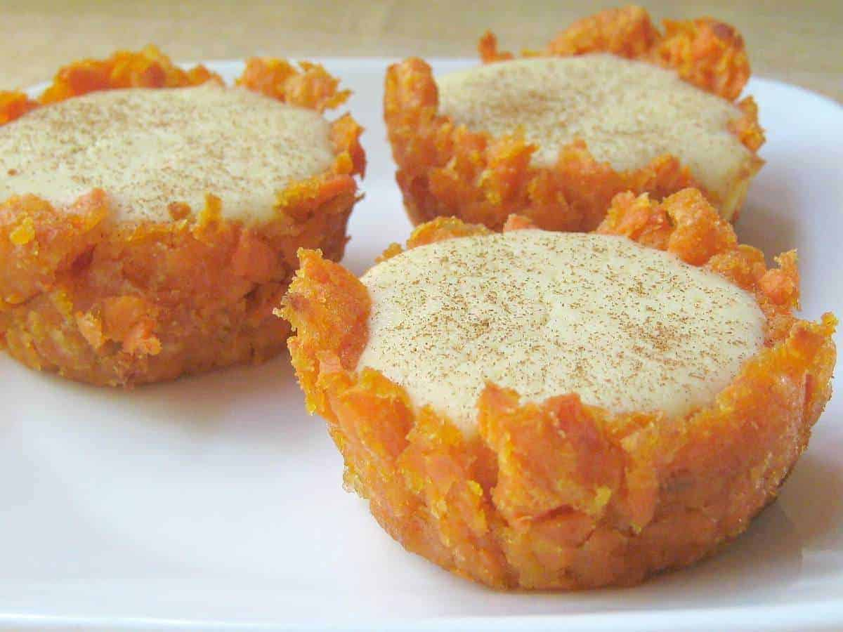 Sweet Potato Cheesecake Bites