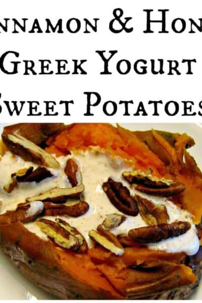 Cinnamon & Honey Greek Yogurt Sweet Potatoes