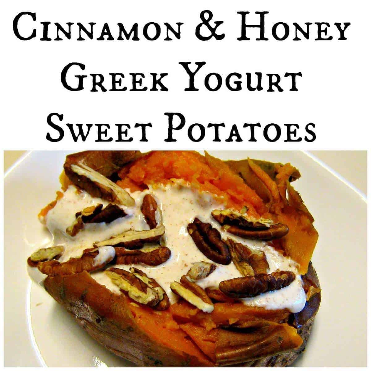 Cinnamon & Honey Greek Yogurt Sweet Potatoes