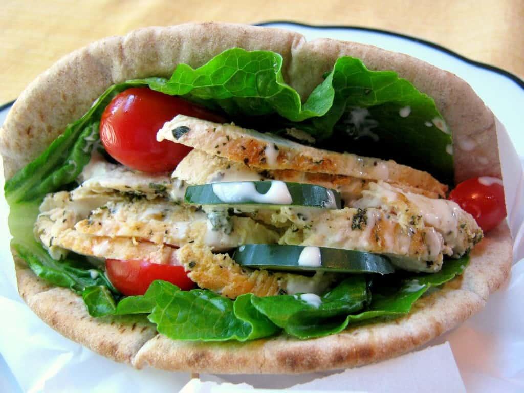 Greek Chicken Pita Wrap