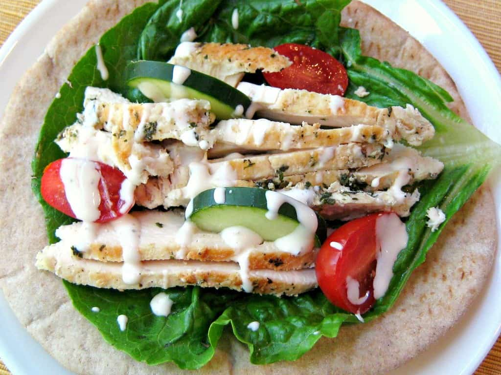 Low Carb Greek Chicken Pita Wrap Easyhealth Living