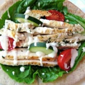 Greek Chicken Pita Wrap