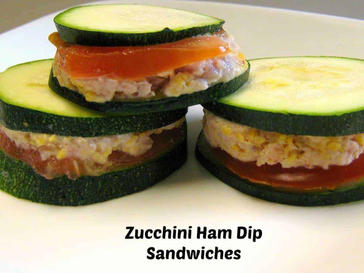 Zucchini Ham Dip Sandwiches
