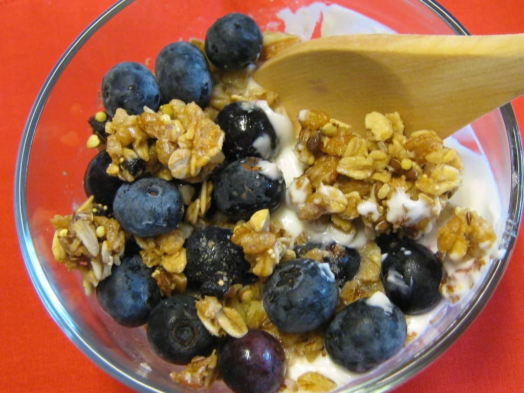 Healthy blueberry recipe