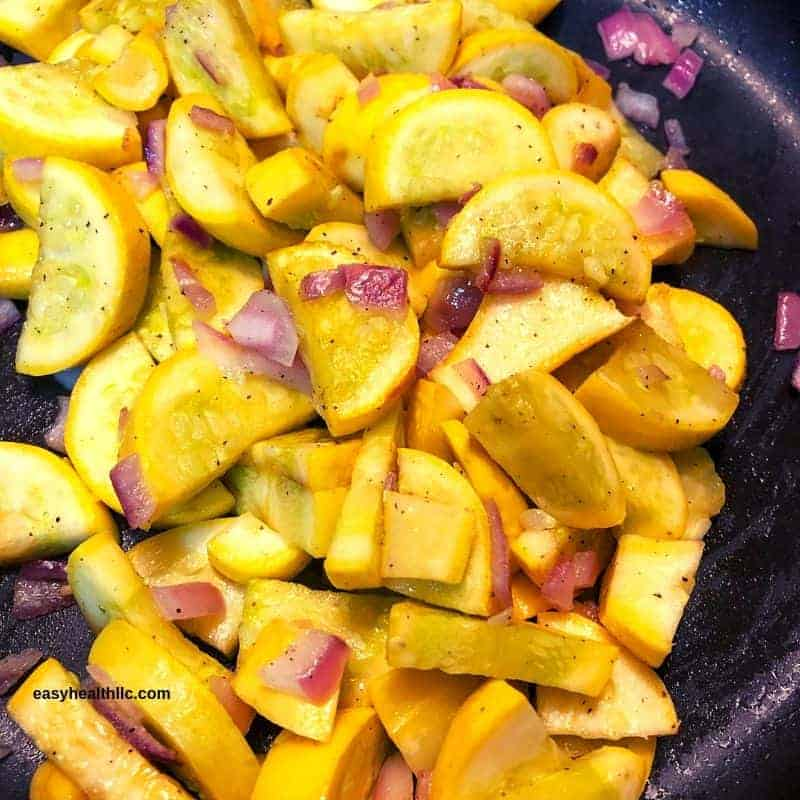 yellow squash and onions