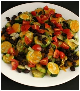 Loaded Zucchini Nachos