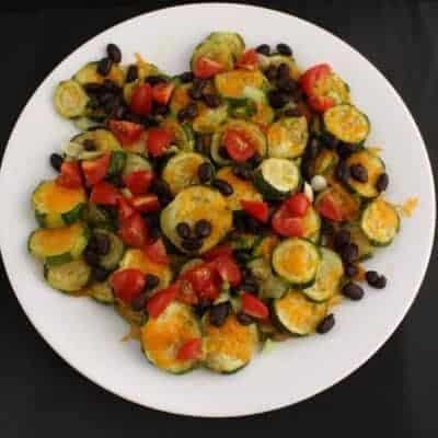 Loaded Zucchini Nachos