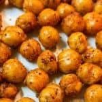 tex mex roasted chickpeas closeup