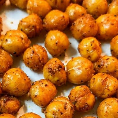 tex mex roasted chickpeas closeup