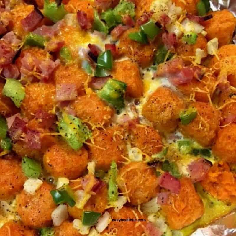 sweet potato tot casserole breakfast