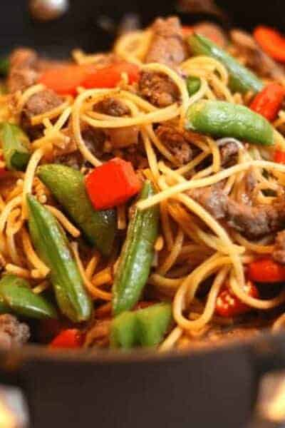 Quick Beef Lo Mein
