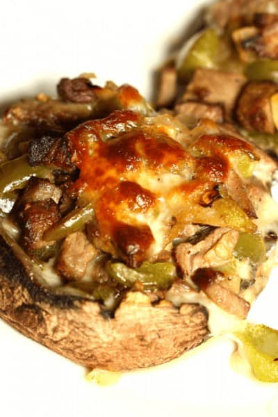 Philly Cheesesteak Stuffed Mushrooms
