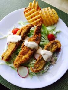 fried catfish slaw low carb