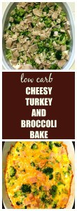 low carb cheesy turkey and broccoli bake