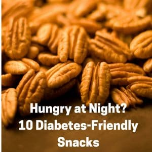 10 Diabetes Friendly Snacks image pecans in background