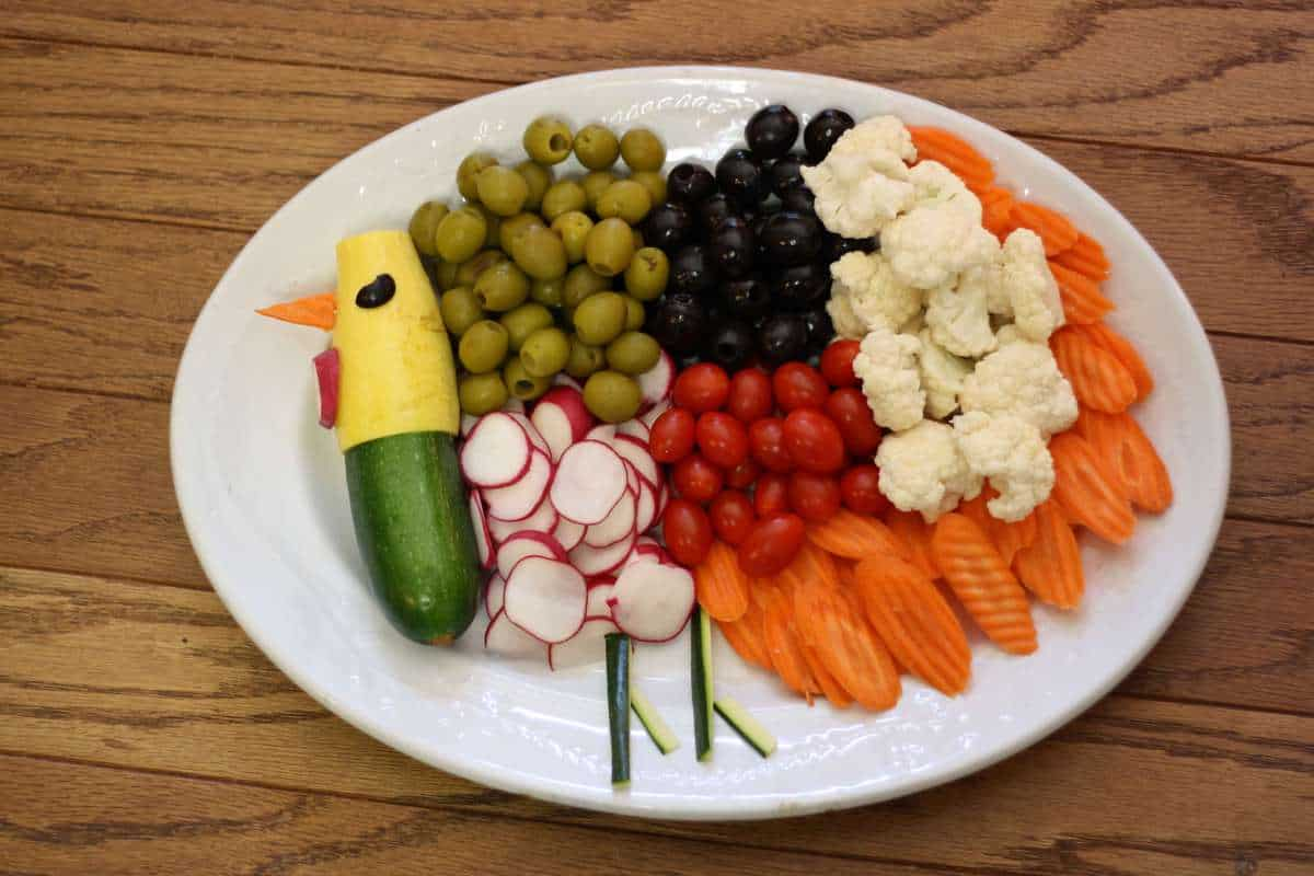 Thanksgiving Healthy Veggie Platter