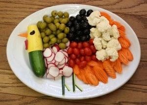 Thanksgiving Healthy Veggie Platter