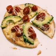 10 Minute Avocado Tortilla Pizza