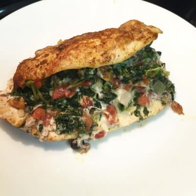 Stuffed Rotel and Spinach Chicken Breast